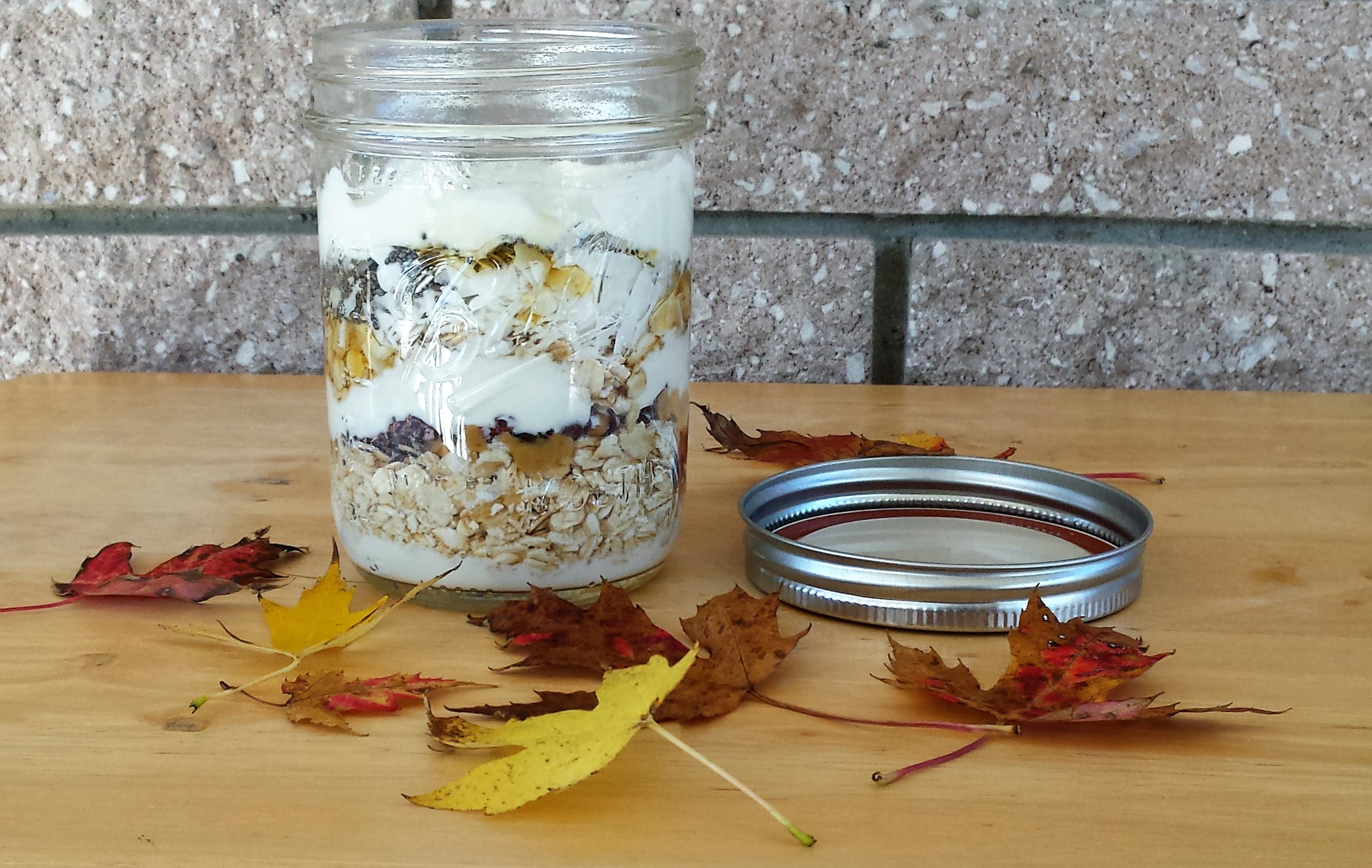 Peanut Butter, Coconut, and Chocolate Yogurt Breakfast Parfait