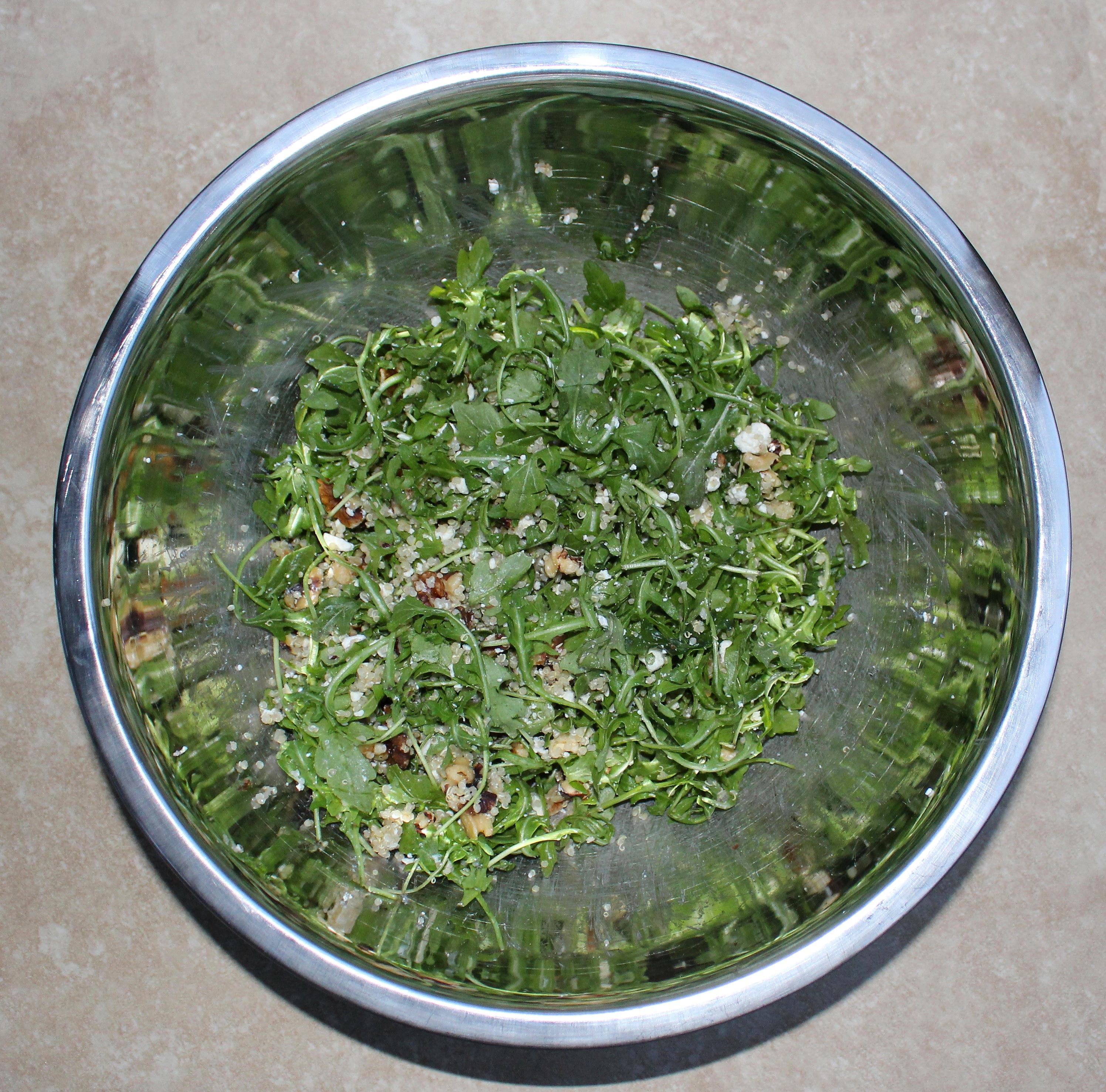 Arugula Quinoa Salad with Baked Pears and Meyer Lemon Vinaigrette 2