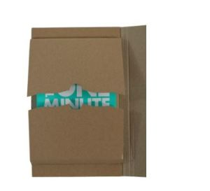 Corrugated book wrap mailer