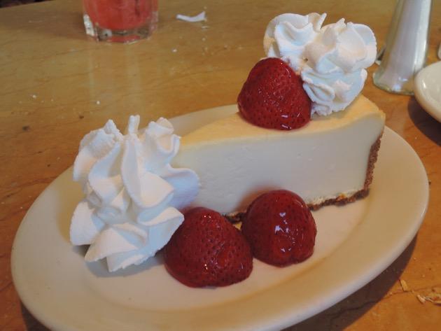 Cheesecake de morango do Cheesecake Factory