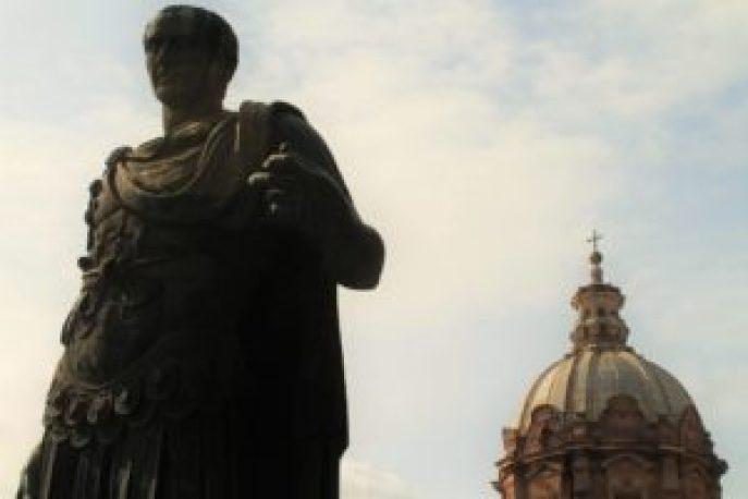 Curiosidades sobre o Império Romano - Estátua de Julio César