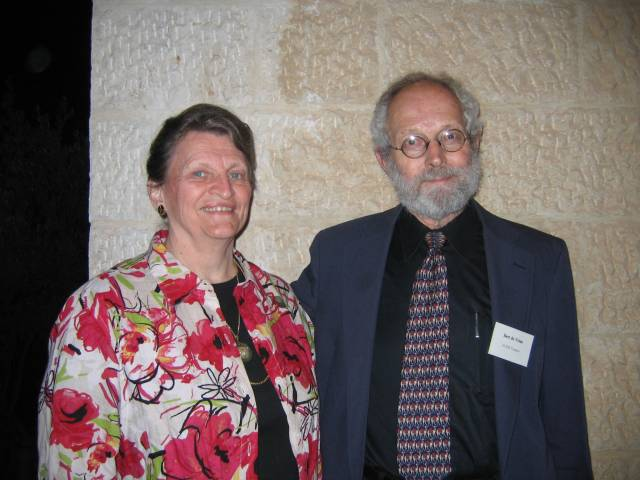 Bert and Sally de Vries at ACOR in 2008