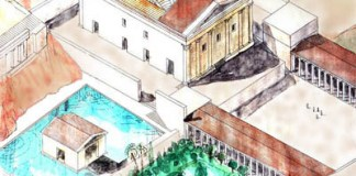 Artistic rendering of the water system