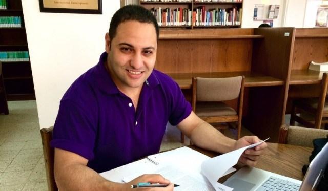 ACOR Fellow Tareq Ramadan in the ACOR library in June 2015. Photo by Leen al-Zu'bi.
