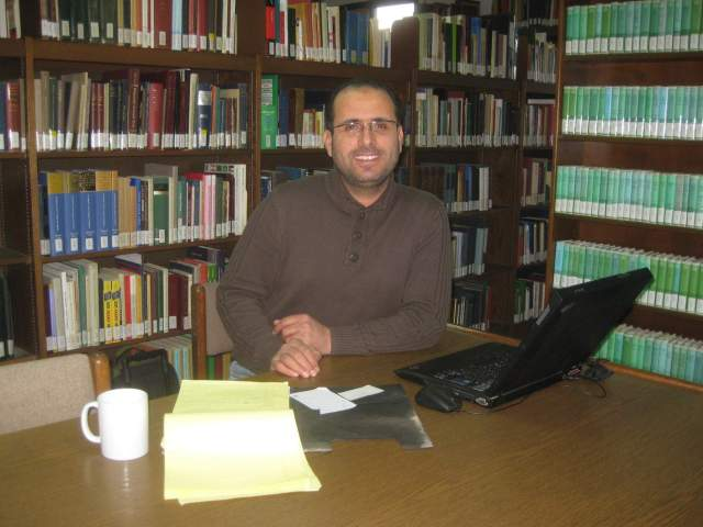 A fixture of ACOR and the ACOR Library through the years, Jordanian archaeologist Zakariya Na'imat is now working to complete a Ph.D. in Islamic Archaeology at the University of Bonn. Photo by Barbara Porter.