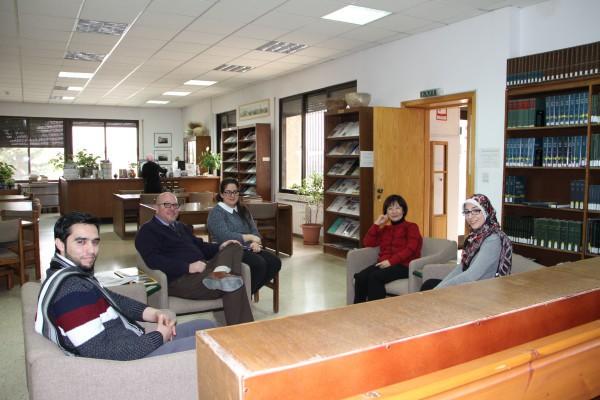 From left, Yusef Abu Ali, Andrew McCarthy, Katerina Mavromichalou, Humi al Ayoubi, and Samya Kafafi. Photograph by Barbara Porter