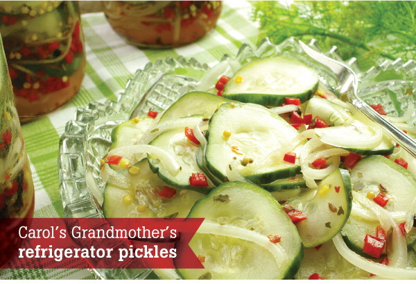 Carol's Grandmother's Refrigerator Pickles