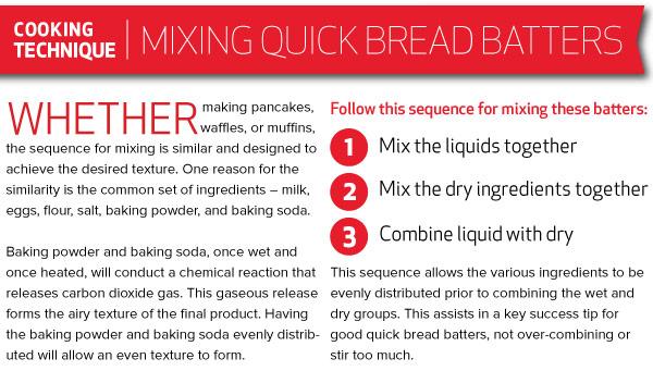 Cooking Technique: Mixing Quick Bread Batters