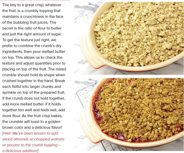 Cooking Technique: Making Great Fruit Crisps
