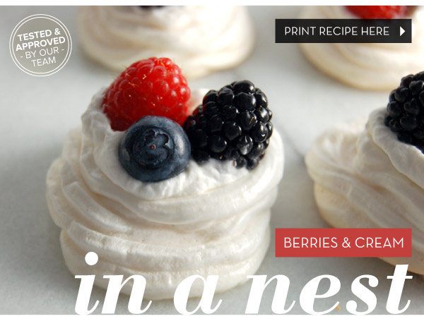 Berries and Cream in a Nest