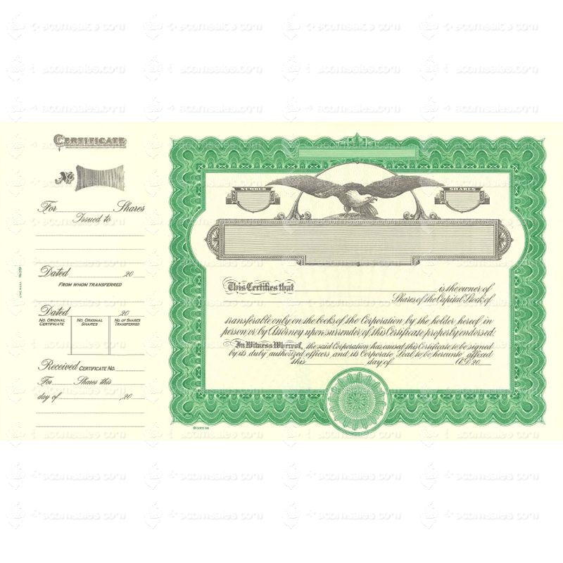 Shop For Goes 509 Corporate Stock Certificate Form Online