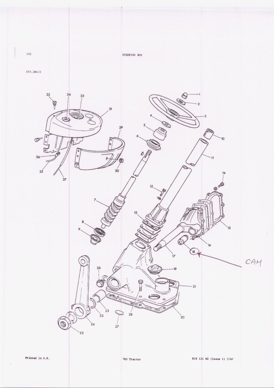 Mf 65 steering box