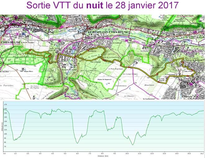 Sortie VTT du 2017-01-28 de nuit
