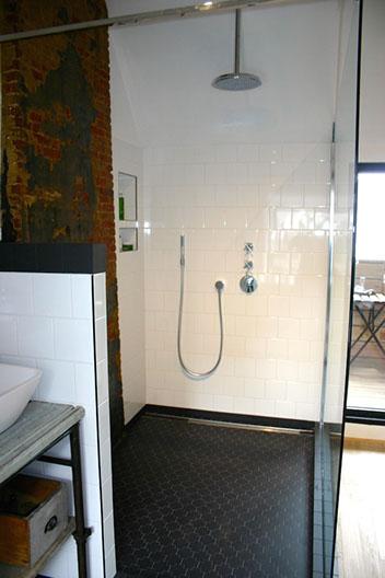 Retro industriële badkamer Antwerpen