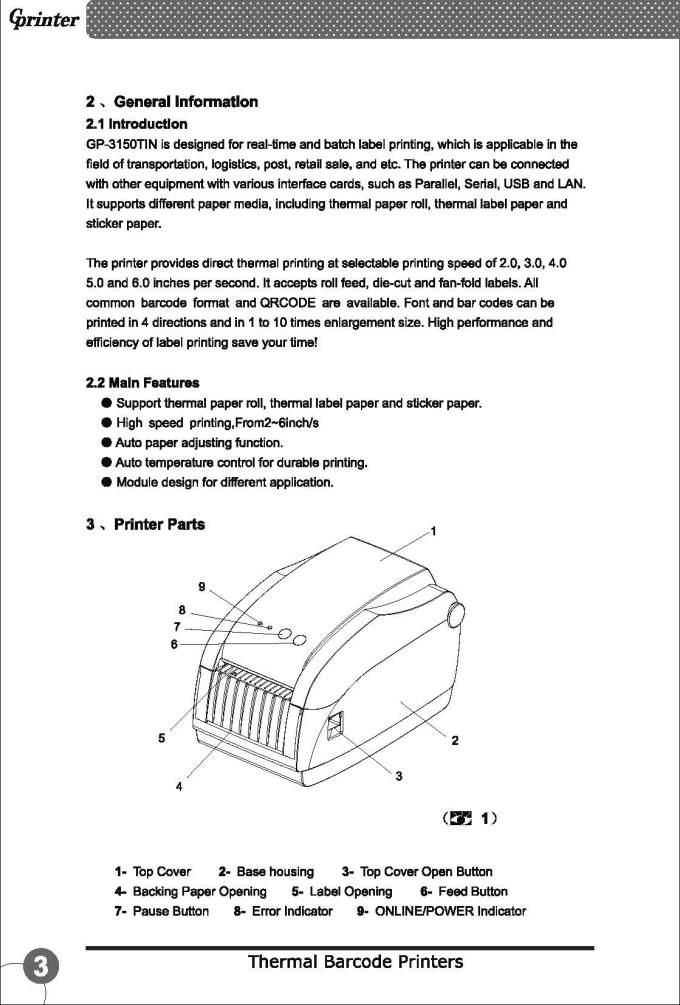Aco Barcode Printer Ad 3150tn Introduction Aco