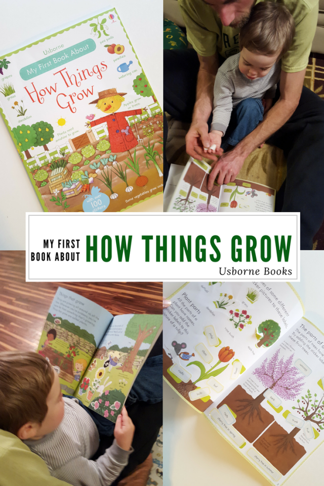 Teaching Toddlers How Things Grow with Usborne Books