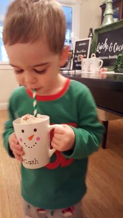 Cute Christmas Breakfast Ideas. Christmas Morning Snowman Mugs