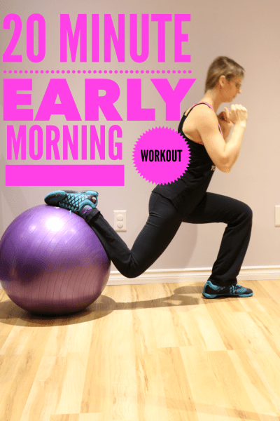 20 minute early morning workout. Easy, Fun and Low Intensity
