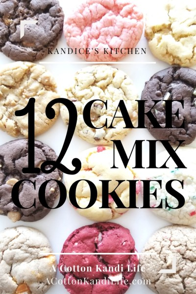 12 Cake Mix Cookie Recipes. Cake Mix Cookie Combinations. Hershey's Toffee Bits, Heath Bar Cookies, Pink Champagne Cookies, Butterfinger Cookies, Reese's Peanut Butter Cookies, Double Peanut Butter Cookies, Pumpkin Spice Cookies, Cherry Lemonade Cookies, Grasshopper Cookies, Red Velvet Cookies, Toffee Cookie Recipes. Christmas Cookie Recipes, Cake Batter Cookies