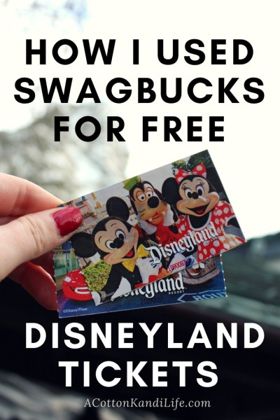 How I use Swagbucks. How I earned Free Disneyland Admission Tickets. How I took my family to Disneyland for Free. Earn Disneyland Tickets. The Cheapest way to go to Disneyland. Disneyland Hacks. Disneyland Point Cards. How to earn Disneyland Points. Free Disneyland Tickets. Swag Bucks