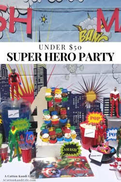 How to have a Super Hero Birthday Party for under $50. Super Hero Birthday Ideas. Avengers Party. Marvel Avengers. Super Hero Birthday Party Ideas for Boys. Superhero Birthday Party Decorations. Under $50. Name for Super Hero Food Theme