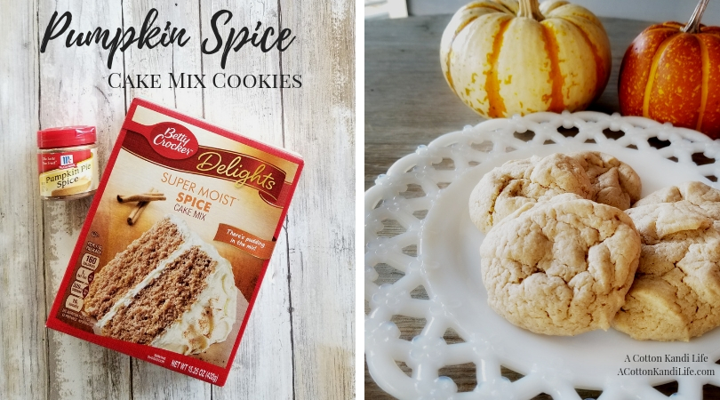 Pumpkin Spice Cake Mix Cookies | Recipe