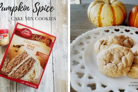 Pumpkin Spice Cake Mix Cookie Recipe. How to make Pumpkin Spice Cookies. Cake Mix Cookie Recipes. Fall Baking Recipes. Pumpkin Spice Baking