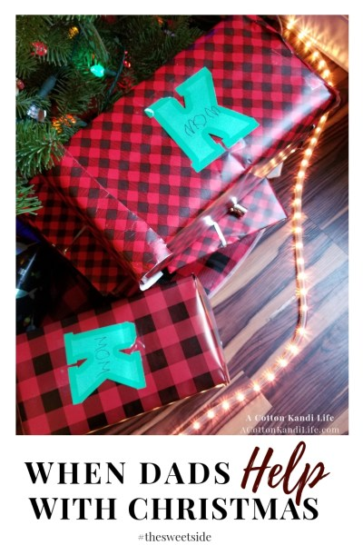When Dads Help with Christmas. Blog POsts about Christmas. Mom Bloggers. Family Christmas Blogs