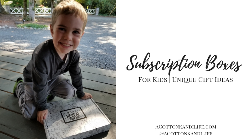 Subscription Boxes for Kids. Unique gift ideas for kids. Gift ideas for toddlers. Kids christmas gift ideas. Non Toy Gift Guide for kids.