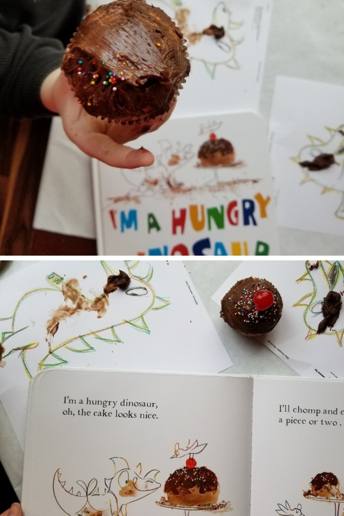 Teaching with Food always encourages fun and learning, especially when kids are hard to motivate. The I'm a Hungry Dinosaur Reading Comprehension Lesson is both fun and creative. Teaching Reading Comprehension with Food and Usborne Books. How to teach Comprehension. Reading Lessons for Toddlers. Toddler Reading Activities.