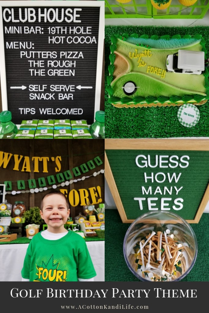 Wyatt is a Golfer, so the Golf Birthday PArty Theme was an obvious choice when he turned FORE! How to Throw a Golf Birthday Party. Turning FORE! 4th Birthday Party Ideas. Golfing Party Theme. Retirement Party Ideas, Kids Golfing Birthday Party. Golf Birthday Party Theme, Golf Birthday Party Kids. Golf Party Decorations. Golf Party Food Names. Golf Course Cake Ideas. Retirement Party Themes.