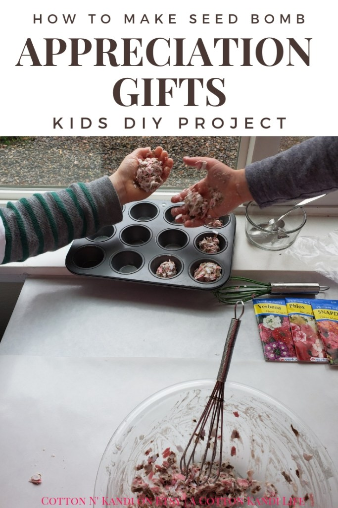 My boys LOVED making these DIY Seed Bombs to give to their Teachers for Teacher Appreciation Week. This would be a great Preschool Earth Day Lesson too! DIY Seed Bombs were fun, simple and cheap, plus the boys did it all on their own. I highly recommend this Kids DIY Project Idea for Mother's Day Gifts, Teacher Appreciation Week Gifts, Gifts for Grandmas and Earth Day Craft Projects.