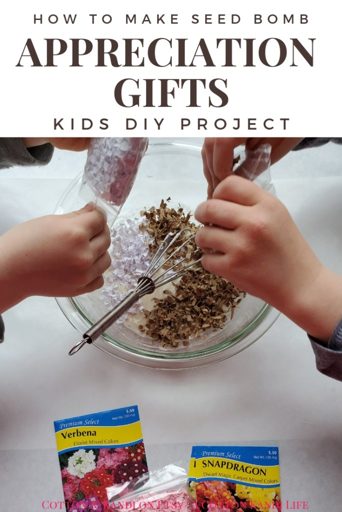 My boys LOVED making these DIY Seed Bombs to give to their Teachers for Teacher Appreciation Week. They were fun, simple and cheap, plus the boys did it all on their own. I highly recommend this Kids DIY Project Idea for Mother's Day Gifts, Teacher Appreciation Week Gifts, Gifts for Grandmas and Earth Day Craft Projects.