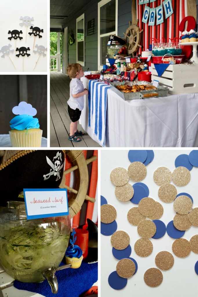 Pirate Birthday Party Ideas and Pirate Party Decorations. How to throw a Pirate Birthday Party for Under $100. 5 Tips I use to keep my Birthday Parties under Budget.