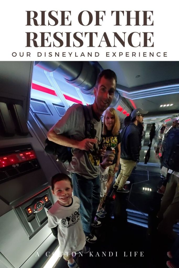 You are formed into lines by the Firt Order before your interrogation. I'm taking you on a quick tour through the new Star Wars Ride: Rise of the Resistance. Here is a little insight into how long it is and what to expect.  . Disneyland's new Star Wars ride details. Everything you need to know about Rise of the Resistance.