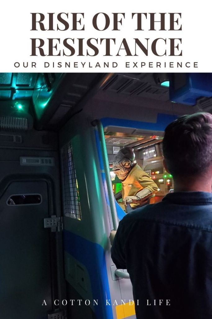 Scene 2: Flying into outer space. I'm taking you on a quick tour through the new Star Wars Ride: Rise of the Resistance. Here is a little insight into how long it is and what to expect.  . Disneyland's new Star Wars ride details. Everything you need to know about Rise of the Resistance.