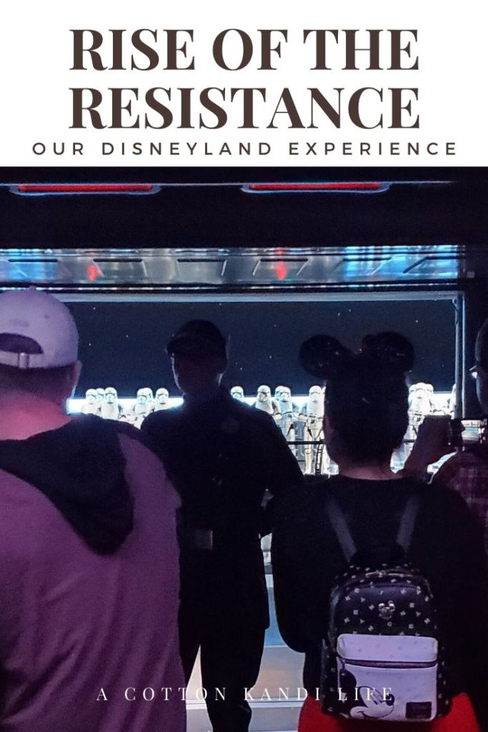 Yes, you get abducted by the First Order. I'm taking you on a quick tour through the new Star Wars Ride: Rise of the Resistance. Here is a little insight into how long it is and what to expect.  . Disneyland's new Star Wars ride details. Everything you need to know about Rise of the Resistance.