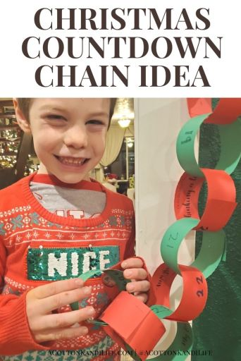 Snag my FREE Printable Christmas Countdown Chain! I've added Sentence Starter Prompts for conversations to have with your kids each night before Christmas. It's always the Day 1 activity of our December Advent Calendar!  * Countdown Chain Ideas for Kids. Holiday Traditions