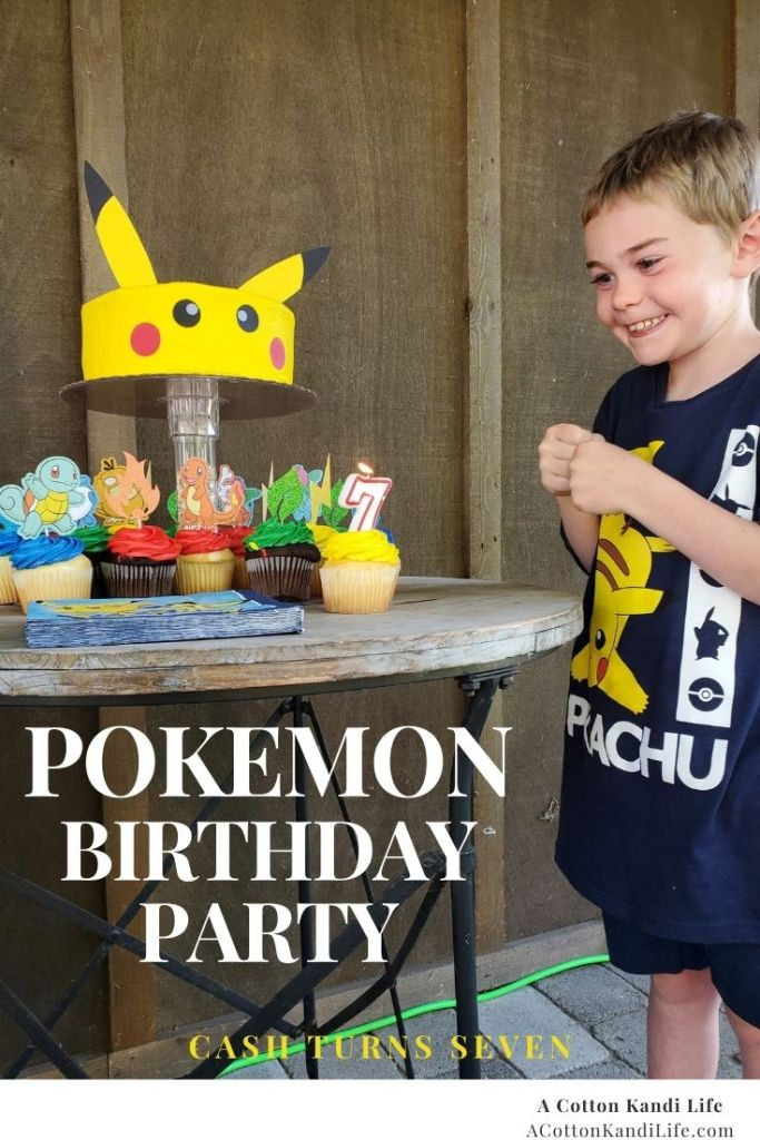 Pokémon was the perfect theme for my son's 7th Birthday Party. We made an easy Pikachu Cake and decorations to make the theme come together.  ****** Pokémon Birthday Party Ideas