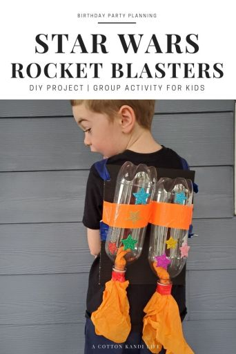 Learn how to make easy DIY  Rocket Blasters Backpacks with soda bottle. Perfect for Space camp, Vacation Bible School and Star Wars Birthday Parties.  * Star Wars Birthday Activities DIY Tutorial, How-To Guide