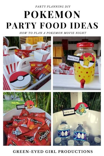A Movie Night Concession Stand is perfect for your Pokemon Birthday Party! Get all the cute Pokemon Party Food Ideas right here from Charmander Chips to Pikachu Punch.  ***** Pokemon Theme Party Decorations.