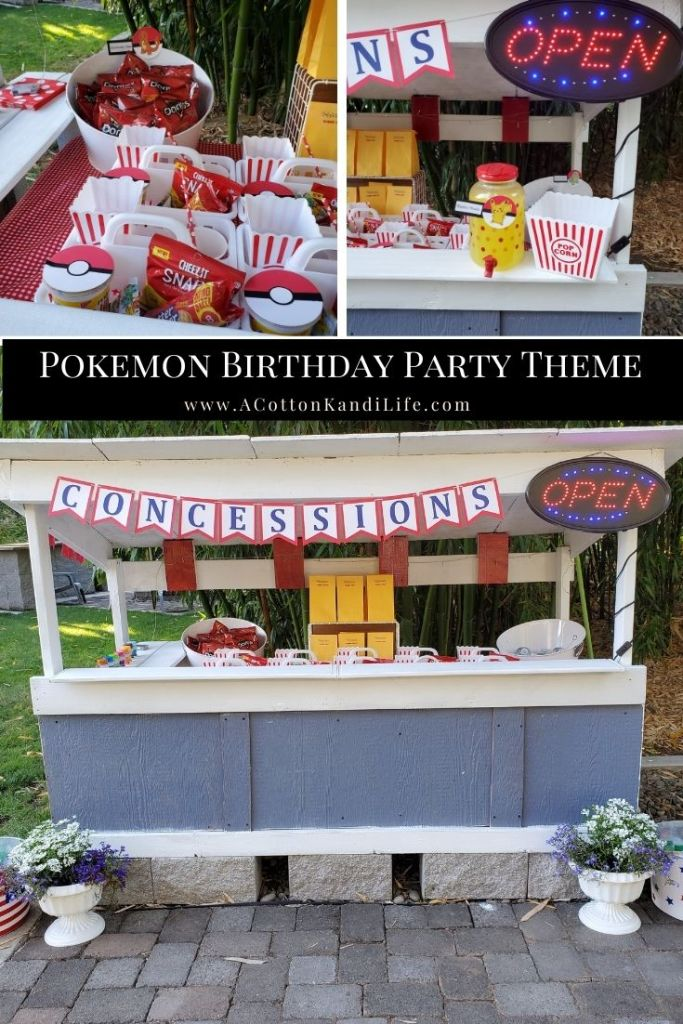 A Movie Night Concession Stand is perfect for your Pokemon Birthday Party! Get all the cute Pokemon Party Food names right here from Charmander Chips to Pikachu Punch.  ***** Pokemon Theme Party Decorations.