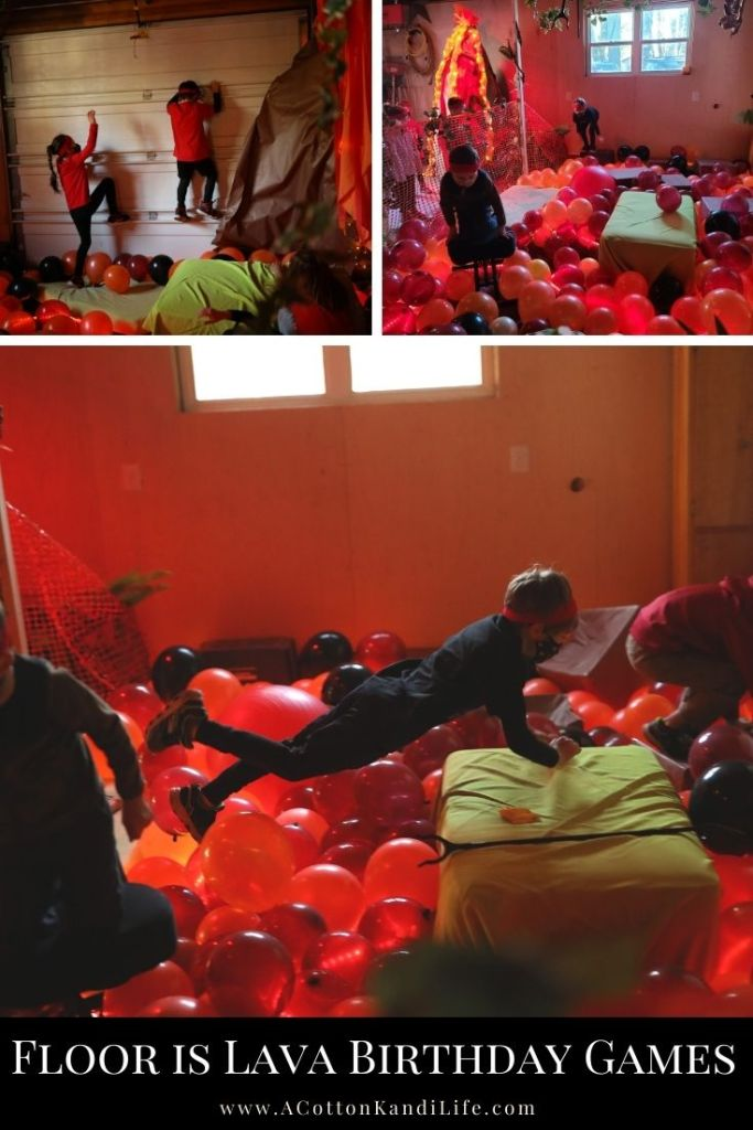 You know the game show, but this is how we Play the Floor is Lava at home in the garage. We use a team scoring system with balloons so everyone is working together. In our Balloon Lava Pit we hid orange Pom-Poms for kids to find and use to fill up a volcano scoreboard. Everyone knew the rules and all kids played together with teamwork. No Elimination.  * Indoor kids Obstacle Course. Winter Gym Activities for Kids. Team Bonding Ideas