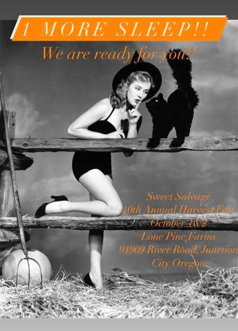We hope to see you at this year's Harvest Fair with Sweet Salvage!  . We'll be there Oct 1st-2nd  Location: Lone Pine Farms Friday October 1, 4:00-9:00 ($8.00)Saturday October 2, 10:00-5:00 ($5.00)Kids 12 under FREE . For all the details on vendors and food trucks follow @Sweetsalvagedesigns . Event: https://www.facebook.com/events/1692965100893455  #goodnews #vendorshows  #plaidaddict #craftshows #oregoncrafters  #fallcolors #fallleaves #falltrends  #fallstyle #autumncolors #fallhats #autumnfashion #liketkit #autumnstyle #autumndays #realoutfitgram #boutiqueshopping #autumnweather #instaautumn #sweaterweather #boutiquefashion #autumnsky #autumntime #autumncolours #instafall #falltime #sweaterbranded #fallbabyshower #babygifts #shopsmall