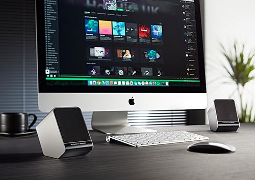 Acoustic Energy Aego and iMac
