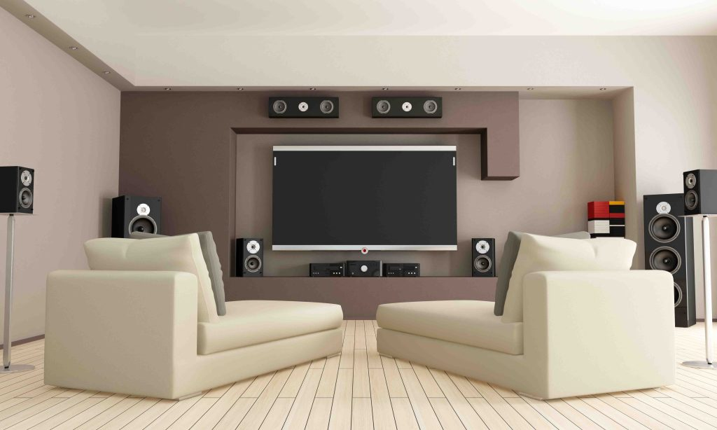 Upgraded media room installation by Acoustic Pixel