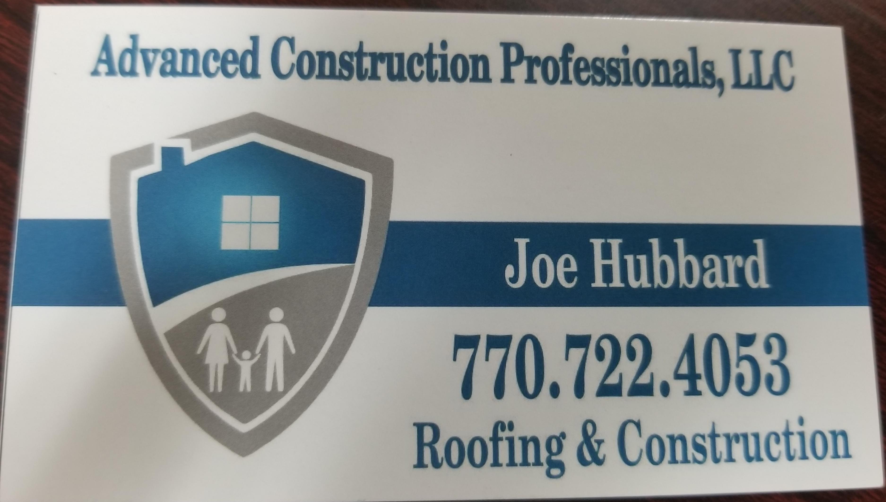 ACP Roofing Joseph Hubbard Business Biz Card