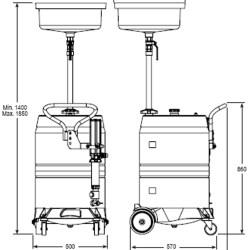 Orion Waste Oil Gravity Drainer 100L