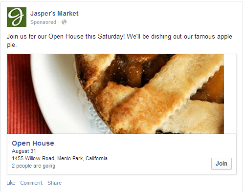 Jasper's Market Writing Facebook Ads
