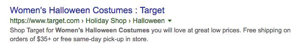 target ad screenshot